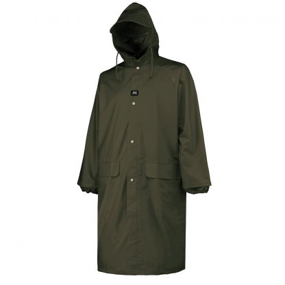 70306 480 ARMY GREEN Helly Hansen Workwear Men's Woodland Rainwear Coat