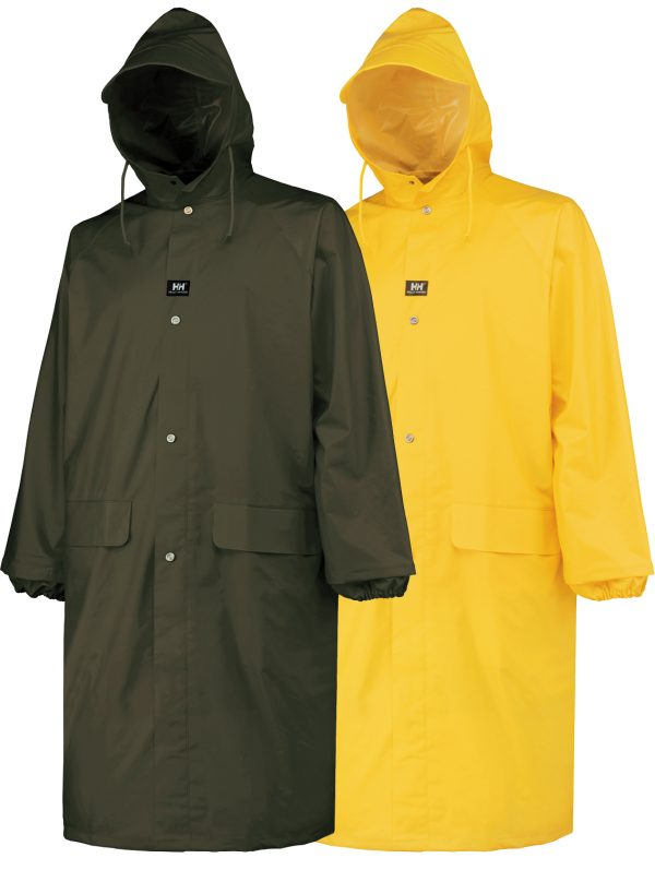 "Helly Hansen 70306 Woodland PVC Raincoat, 48"" Length"