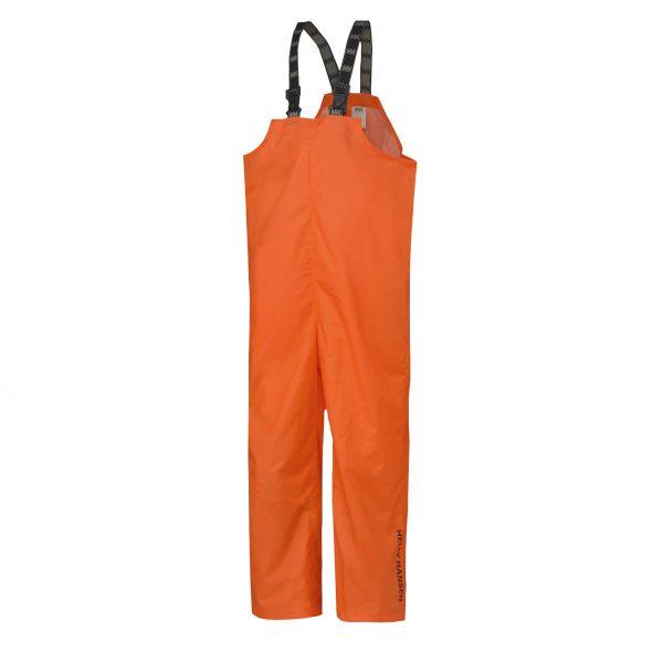 70529 Helly Hansen Workwear Mandal Fishermans PVC Rain Bib Orange