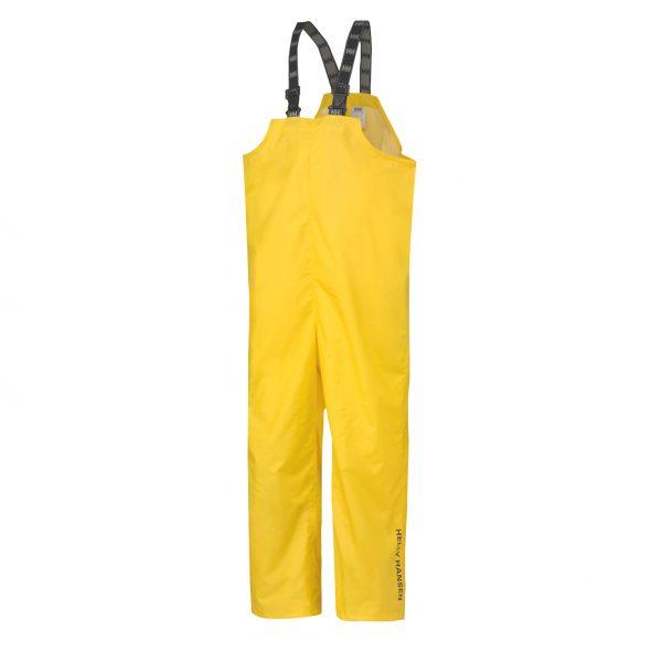 70529 Helly Hansen Workwear Mandal Fishermans PVC Rain Bib Yellow