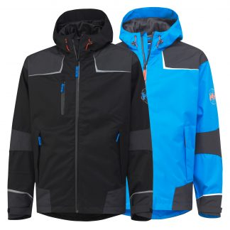Helly Hansen 71047 Chelsea Waterproof Rain Jacket, available in both black and blue