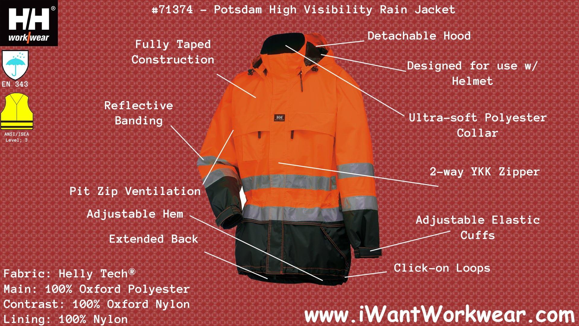 903066f3594 Helly Hansen 71374 Potsdam Reflective Winter Jacket, 2