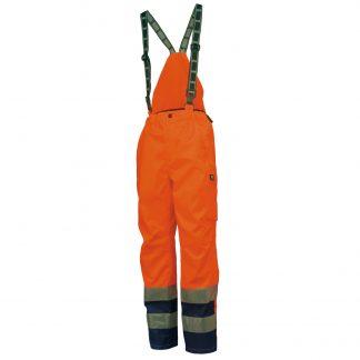Helly Hansen Workwear 71475 Mens Potsdam High Visibility Bib Pant 265 EN471 ORANG