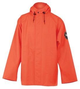 Helly Hansen Workwear 70193 Abbotsford PU Rain Jacket, Orange