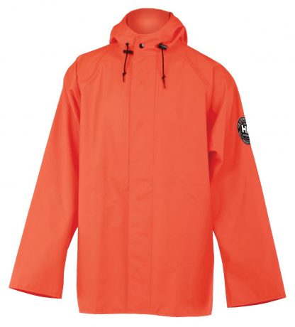 Helly Hansen Workwear 70193 Abbotsford PU Rain Jacket, Orange