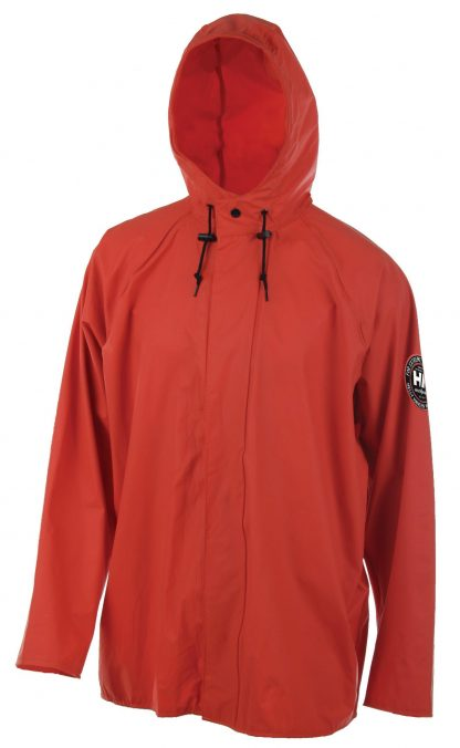 Helly Hansen Workwear 70193 Abbotsford PU Rain Jacket, Dark Orange