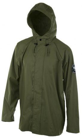 Helly Hansen Workwear 70193 Abbotsford PU Rain Jacket, Army Green