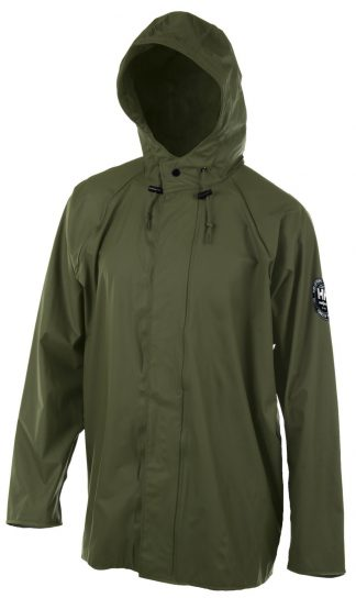 Helly Hansen Workwear 70193 Abbotsford PU Rain Jacket, Army Green