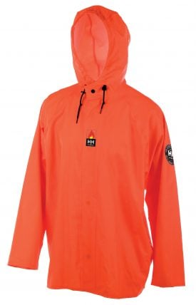 Helly Hansen Workwear 70255 Mac Stretch Flame Retardant Rain Jacket, Front
