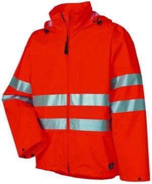 70260 Helly Hansen Workwear Narvik Mens Class 3 High Visibility Rain Jacket / Concealable Hood, 3M™ Scotchlite™ Reflective. Orange