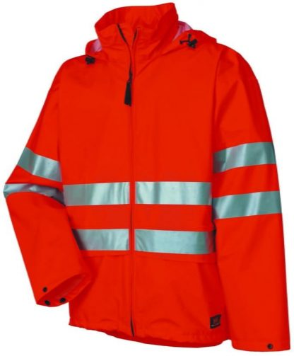 70260 Helly Hansen Workwear Narvik Mens Class 3 High Visibility Rain Jacket / Concealable Hood, 3M™ Scotchlite™ Reflective. Orange