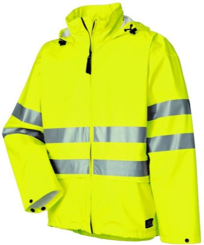 70260 Helly Hansen Workwear Narvik Mens Class 3 High Visibility Rain Jacket / Concealable Hood, 3M™ Scotchlite™ Reflective. Yellow