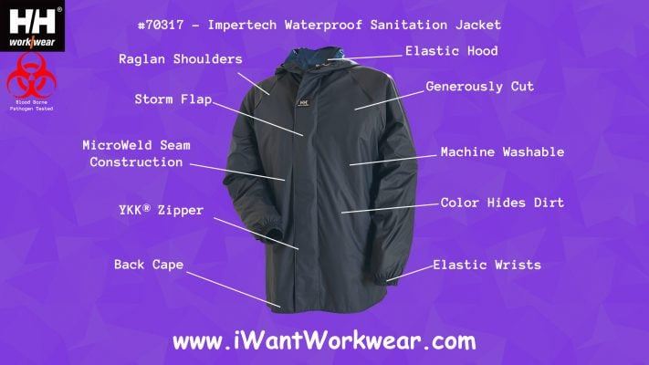 70317 Helly Hansen Impertech Waterproof Sanitation Jacket