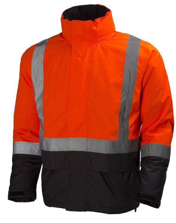 Helly Hansen 70336 Alta Class 3 High Visibility Insulated Rain Jacket, Orange Front