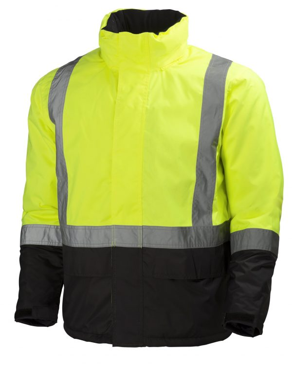 Helly Hansen 70336 Alta Class 3 High Visibility Insulated Rain Jacket, Yellow Front