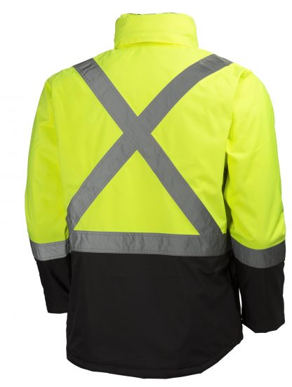 Helly Hansen 70336 Alta Class 3 High Visibility Insulated Rain Jacket, Yellow Back