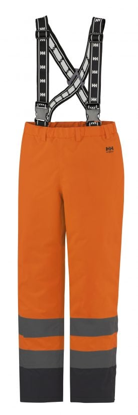 70445 Helly Hansen Workwear Alta High Visiblity Insulated Rain Pant, Orange