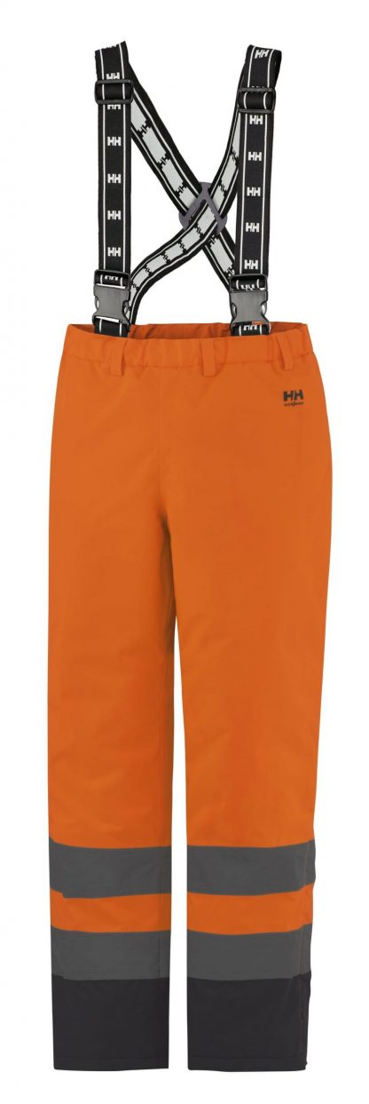 70445 Helly Hansen Workwear Alta High Visiblity Insulated Rain Pant, Orange