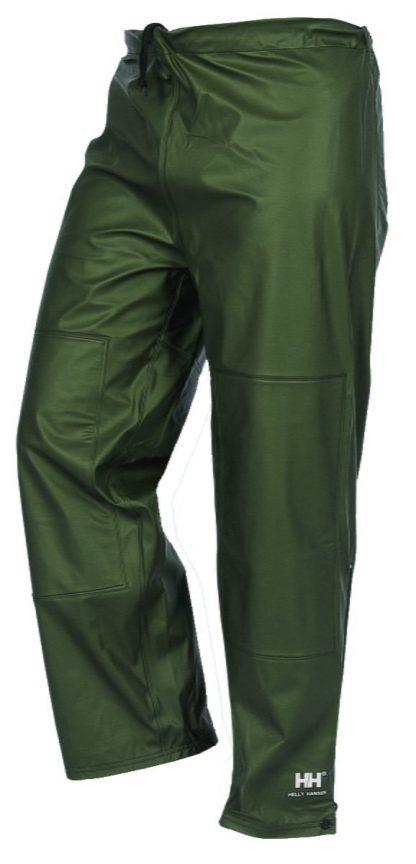 70448 Helly Hansen Impertech Reinforced Waist Rain Pant, Green Brown