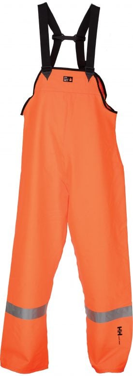 70519 Helly Hansen Workwear Cornerbrook Class 2 High Visibility Flame Retardant Bib Pant, Orange
