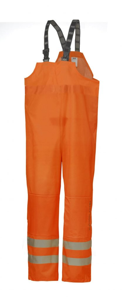 70570 Helly Hansen Workwear Men's Narvik Class 2 High Visibility PU Rain Pants, 3M™ Scotchlite™ Reflective, CSA Z96 Compliant, Orange