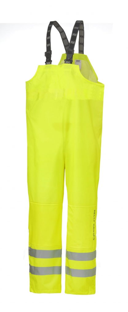 70570 Helly Hansen Workwear Men's Narvik Class 2 High Visibility PU Rain Pants, 3M™ Scotchlite™ Reflective, CSA Z96 Compliant, Yellow