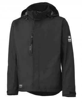 Helly Hansen 71043 Haag Insulated Rain Jacket, Helly Tech® Protection, Black