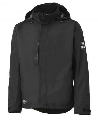 Helly Hansen 71043 Haag Insulated Rain Jacket, Helly Tech® Protection, Black