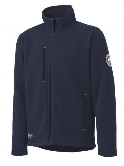 72112 Helly Hansen Workwear Men's Langley Polartec® Fleece Jacket, Classic Navy Blue