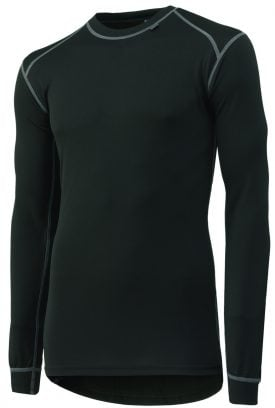 75016 Helly Hansen Workwear Men's Kastrup Long Sleeve Thermal Top w/ Lifa® Moisture Wicking Technology, Black