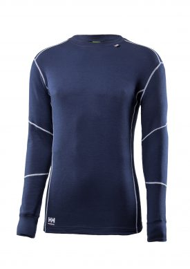 75043 Helly Hansen Workwear Men's Lifa Max Thermal Long Sleeve T-Shirt w/ Lifa® Moisture Wicking Technology, Classic Navy