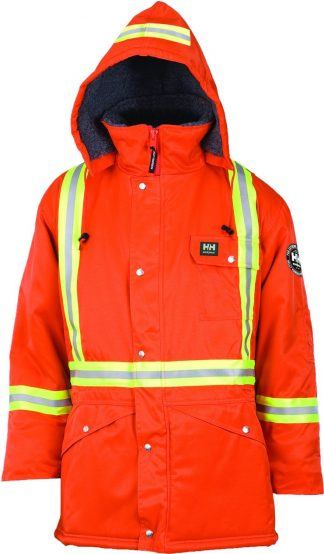 76313 Helly Hansen Workwear Men's Weyburn High Visibility Thermal Lined Parka w/ 3M™ Scotchlite™ Reflective, CSA Compliant, HI VIS Orange