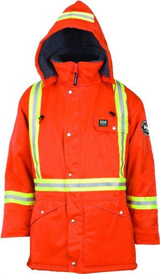 76313 Helly Hansen Workwear Men's Weyburn High Visibility Thermal Lined Parka w/ 3M™ Scotchlite™ Reflective, CSA Compliant, HI VIS Orange