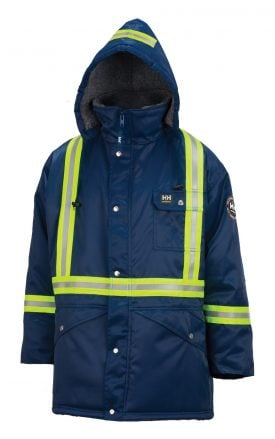 76313 Helly Hansen Workwear Men's Weyburn High Visibility Thermal Lined Parka w/ 3M™ Scotchlite™ Reflective, CSA Compliant, Blue