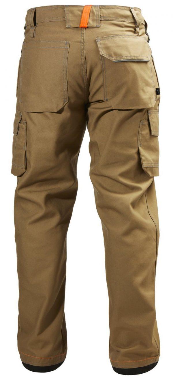 76485 Helly Hansen Workwear Men's Chelsea Service Work Pants, Timber Back