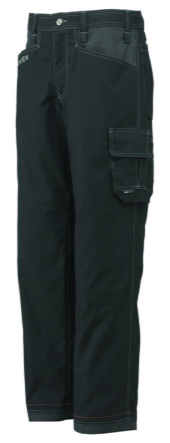 76485 Helly Hansen Workwear Men's Chelsea Service Work Pants, Black Front