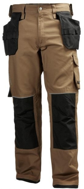76488 Helly Hansen Workwear Men's Chelsea Construction Pant w/ Hanging Pockets, Cordura® Reinforcements, Timber, Front