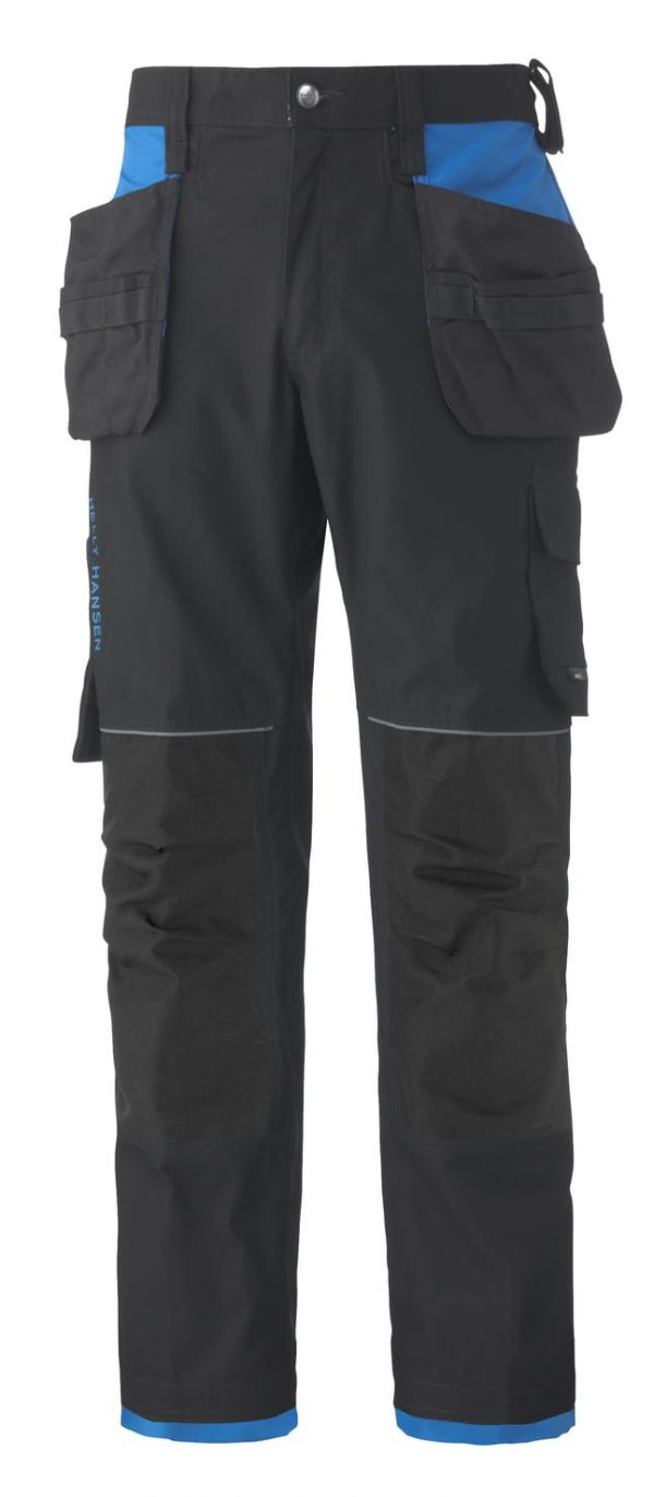 76488 Helly Hansen Workwear Men's Chelsea Construction Pant w/ Hanging Pockets, Cordura® Reinforcements, Racer Blue, Front
