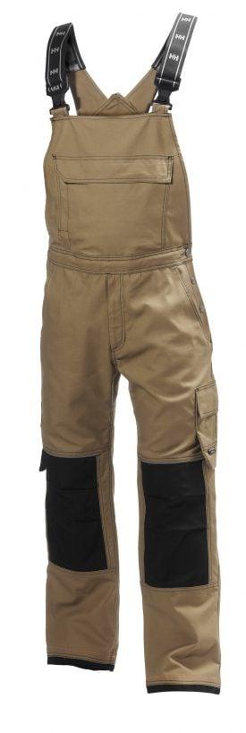 76541 Helly Hansen Workwear Men's Chelsea Construction Bib Pant w/ Cordura® Reinforcement, Hammer Holster & Hanging Pockets, Timber Front