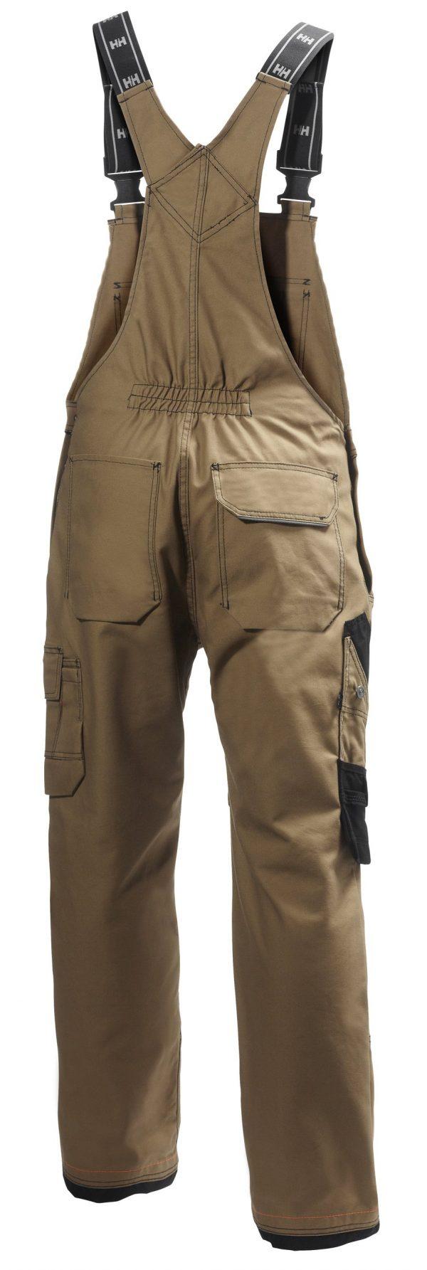 76541 Helly Hansen Workwear Men's Chelsea Construction Bib Pant w/ Cordura® Reinforcement, Hammer Holster & Hanging Pockets, Timber Back