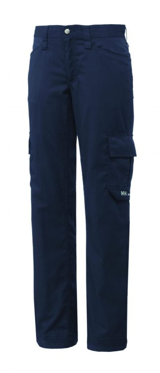 76591 Helly Hansen Workwear Men's Durham Service Pant, Classic Navy, Front