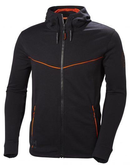 Helly Hansen Workwear 79197 Men's Chelsea Evolution Hoodie, Black, Front