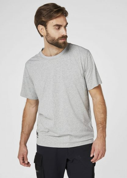 79198 Helly Hansen Workwear Men's Chelsea Evolution T-shirt, Front Grey, Onbody