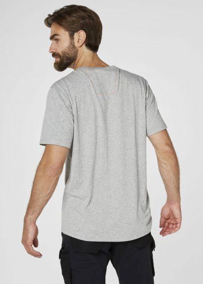 79198 Helly Hansen Workwear Men's Chelsea Evolution T-shirt, Back Grey, Onbody