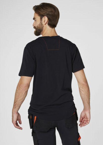 79198 Helly Hansen Workwear Men's Chelsea Evolution T-shirt, Front Black Onbody