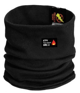 79893 Helly Hansen Workwear Fargo Flame Retardant Neck Gaiter w/ Lifa® Moisture Wicking Technology, Black