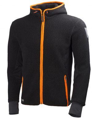 72269 Helly Hansen Workwear Men's MJØLNIR Hooded Pile Jacket w/ Polartec® Power Stretch Fabric, Front