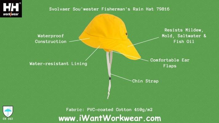 79816 Helly Hansen Sou'wester Fisherman's Rain Hat