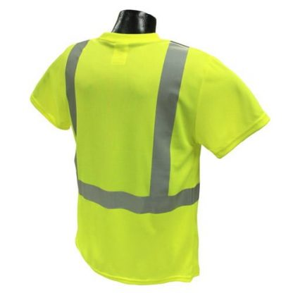 Radians ST11 Class 2 High Visibility Safety Shirt, Green Back