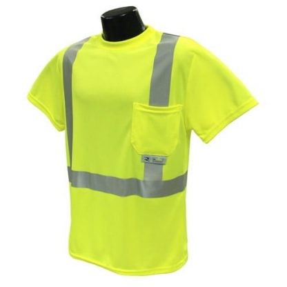 Radians ST11 Class 2 High Visibility Safety Shirt, Green Front